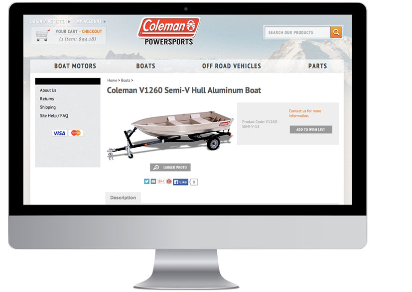Coleman parts website demo