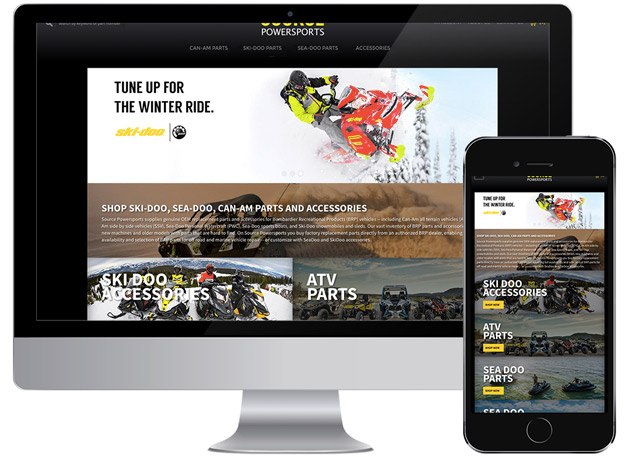Powersports parts website demo