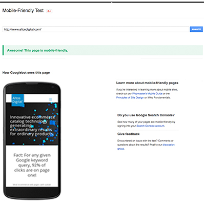 Google & Bing Mobile Friendly Test Tools